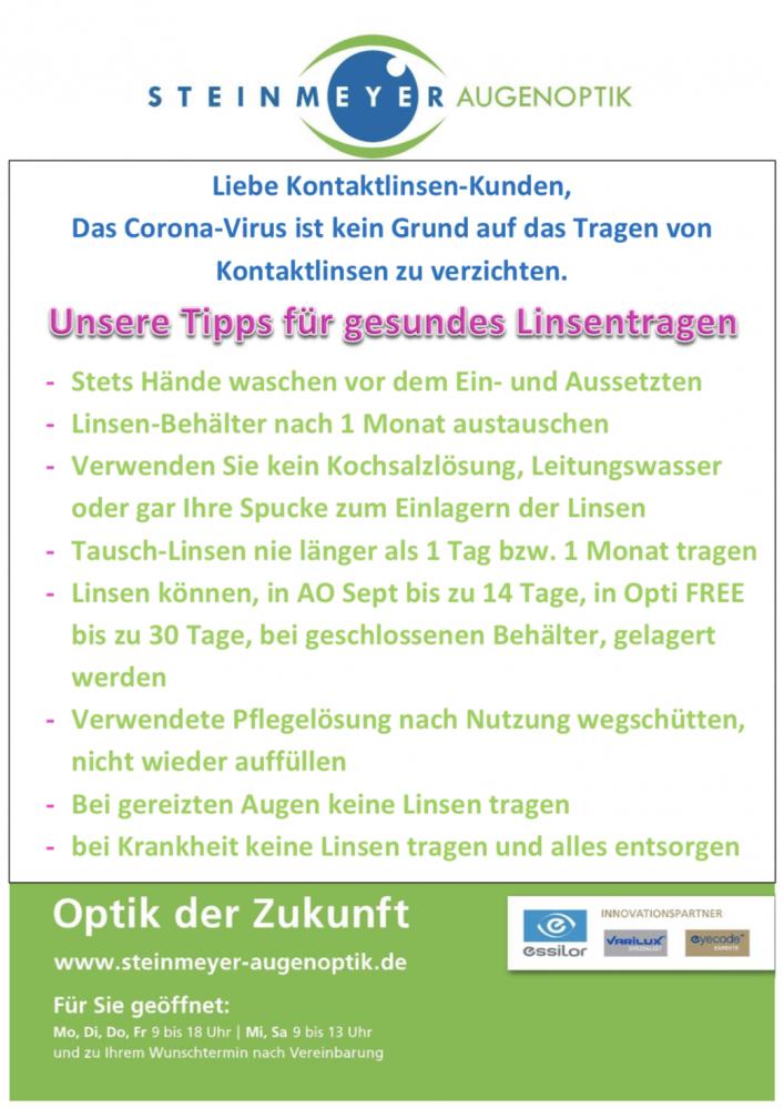 Corona-Linsen-Tipps